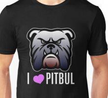 i love pitbul Unisex T-Shirt