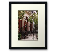 Outdoor Restaurant Framed Print