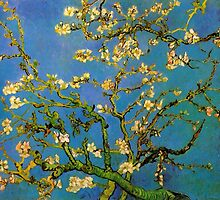 Blossoming Almond Tree by Vincent van Gogh by masterpiececafe