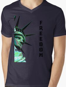 freedom Mens V-Neck T-Shirt