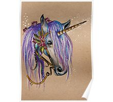The Magical Faery Unicorn Poster