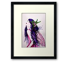 The Foxglove Faerie Framed Print