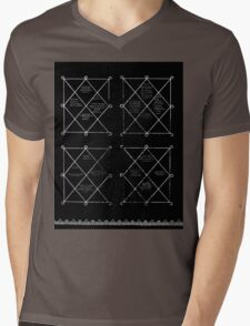 HOLOGRAM SAK YANT 4 UP Mens V-Neck T-Shirt