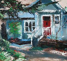 Cottage in the Blue Mountains by Tash  Luedi Art