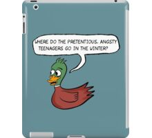 The Catcher in the Rye - Where do the ducks go? iPad Case/Skin