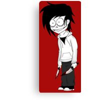 Jeff the Killer Cartoon Canvas Print