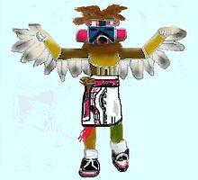 Eagle Dancer Kachina by Carole Boyd