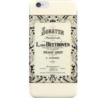 Beethoven's Sonata 1915 iPhone Case/Skin