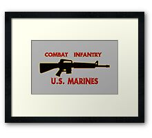 Combat Infantry - U.S. Marines     Semper Fi Framed Print