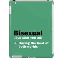 Funny Bisexual Dictionary Definition Quote Gay Saying iPad Case/Skin
