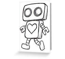 Single Love Robot (Monochrome) Greeting Card