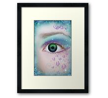 Sapphire eyes... Framed Print