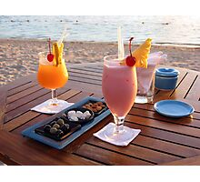 Cocktail drinks Photographic Print