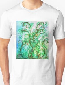 GREEN HEART WITH  WHIMSICAL FLOURISHES T-Shirt