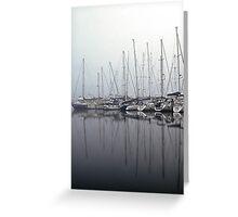 Foggy Yacht Club Greeting Card