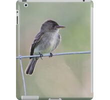 Tropical Pewee on Wire iPad Case/Skin