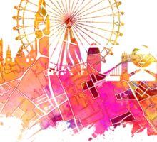 London skyline map city pink Sticker