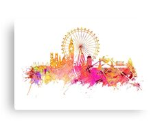 London skyline map city pink Canvas Print