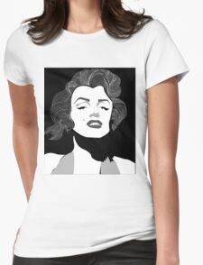 Marilyn Monroe Vector Womens Fitted T-Shirt