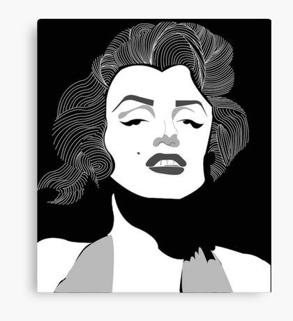Marilyn Monroe Vector Canvas Print