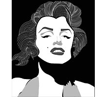 Marilyn Monroe Vector Photographic Print
