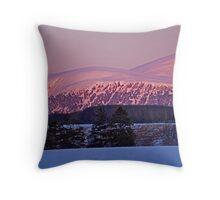 Highland  Sunset - Cairngorm Mountains Throw Pillow