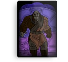 Warlord - stained glass villains Metal Print