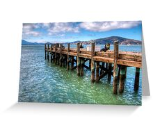 The Old Alcatraz Dock that laid upon the Blue Waters Greeting Card