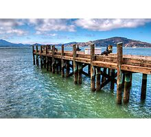 The Old Alcatraz Dock that laid upon the Blue Waters Photographic Print