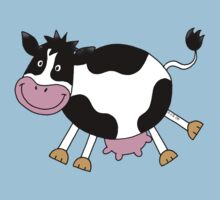 Funny farm dancing cow One Piece - Short Sleeve