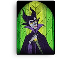 Evil fairy?! - stained glass villains Canvas Print