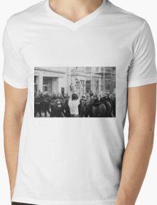 Poll Tax protestor, London Mens V-Neck T-Shirt