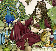Queen of Pentacles by WinonaCookie
