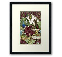 Queen of Pentacles Framed Print