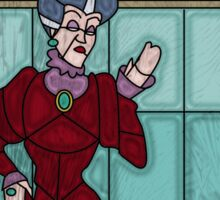 What a wicked stepmother - stained glass villains Sticker
