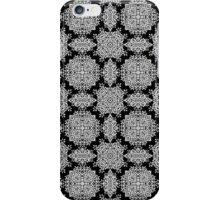 White and Black Damask Pattern iPhone Case/Skin