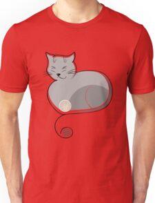 Whimsical Cat Vector Illustration Unisex T-Shirt