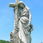 Statue atop a Grave by Debbie Robbins