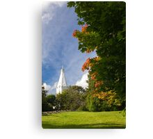 Early Autumn in City Park Canvas Print