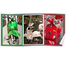 Vespa Triptych (best viewed larger) Poster
