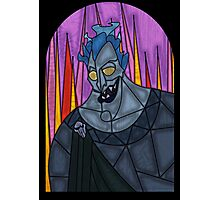 Underworld God - stained glass villains Photographic Print