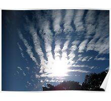 Sky with cloud fingers. Poster
