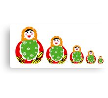 Cute Russian nesting dolls Canvas Print
