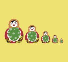 Cute Russian nesting dolls One Piece - Short Sleeve
