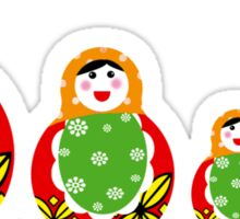 Cute Russian nesting dolls Sticker