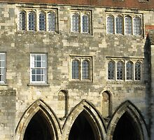 Medieval porch, The Deanery, Winchester Cathedral Close, Southern England by Philip Mitchell