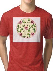 GreenBranchesPattern Tri-blend T-Shirt