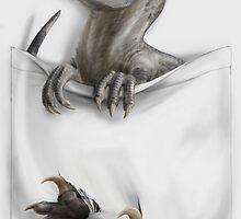 Pocket Protector - Female Raptor by CanineHybrid