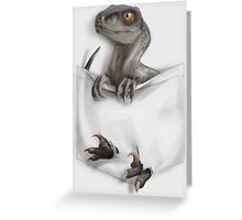 Pocket Protector - Female Raptor Greeting Card