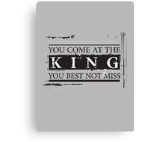 """You Come at the King, You Best Not Miss"" - The Wire (Dark) Canvas Print"